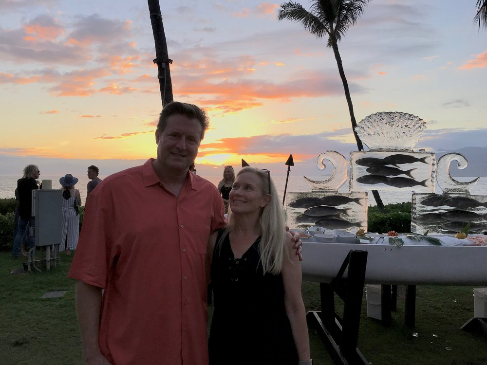 2018 Maui Film Festival. Later, Jim melted down the ice sculpture and freed the fish.