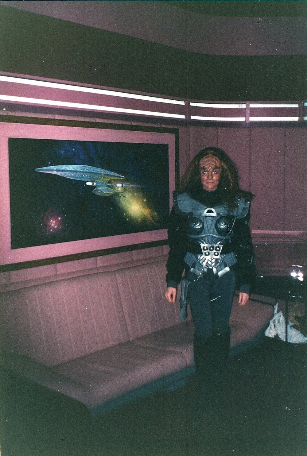 "Jim's wife Sonya got to fulfill Jim's dream of performing as a Klingon on Star Trek TNG in 1993, while 6'-8"" Jim did not."