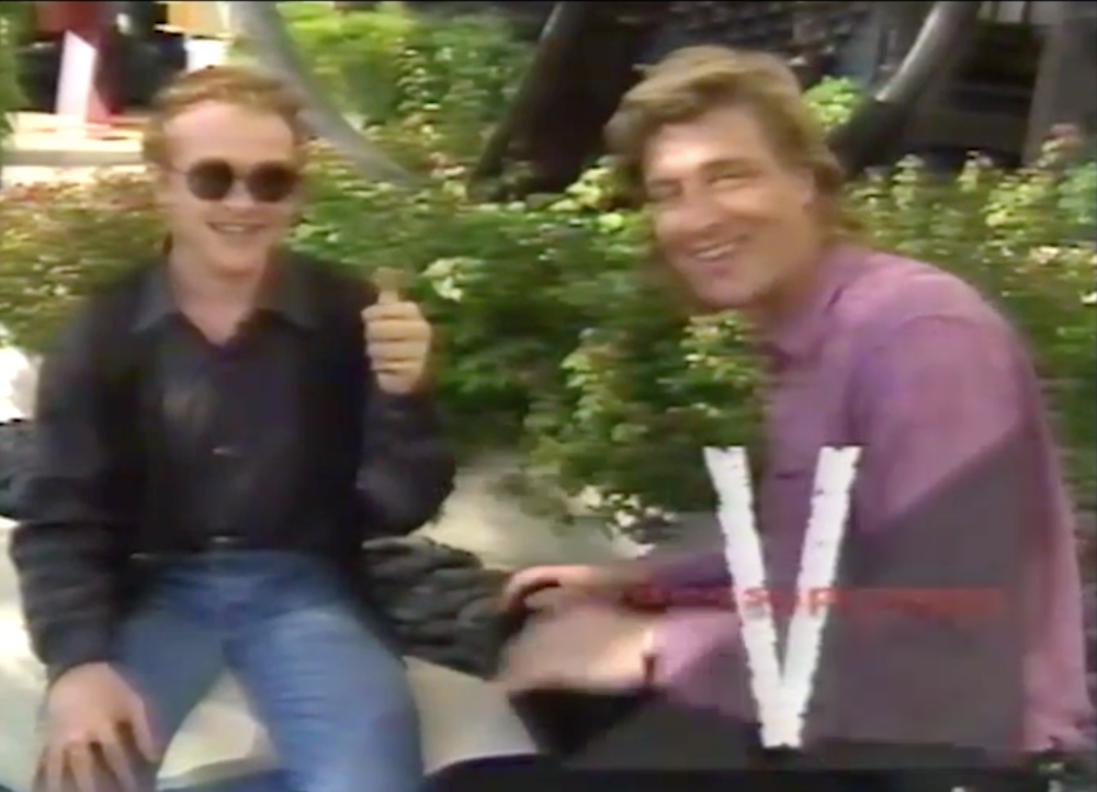Interviewing Mick Hucknall of Simply Red in 1991 in LA.