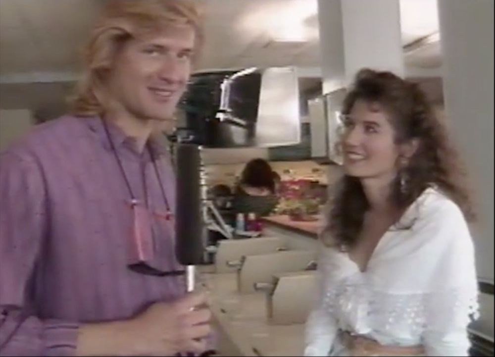 "Behind the scenes interview at Amy Grant's music video shoot in LA for her #2 hit ""Every Heartbeat"" in 1991."