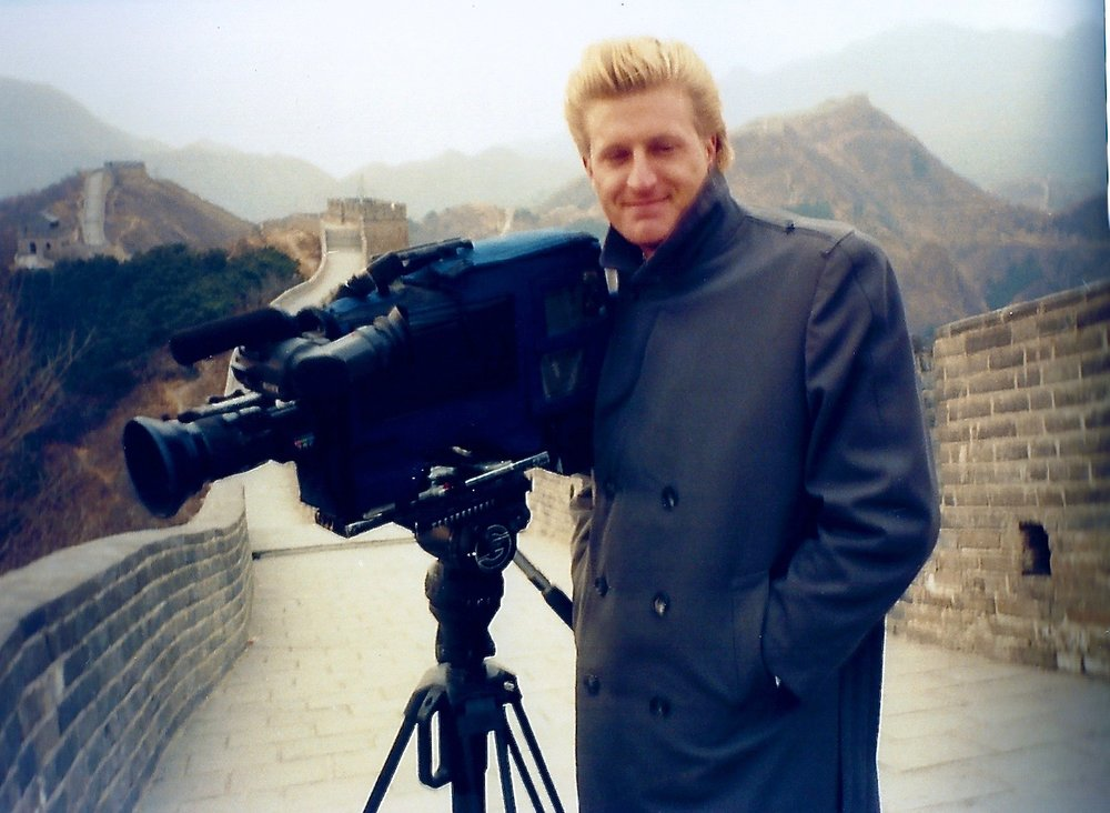 Shooting documentaries at China's Great Wall in 1989, which, apparently, was built to repel monsters according to a recent Matt Damon movie.