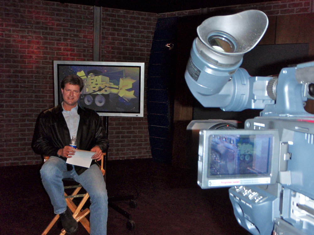 Being interviewed for the 25th anniversary of the pioneering Real Videos which Jim co-created back in 1984.
