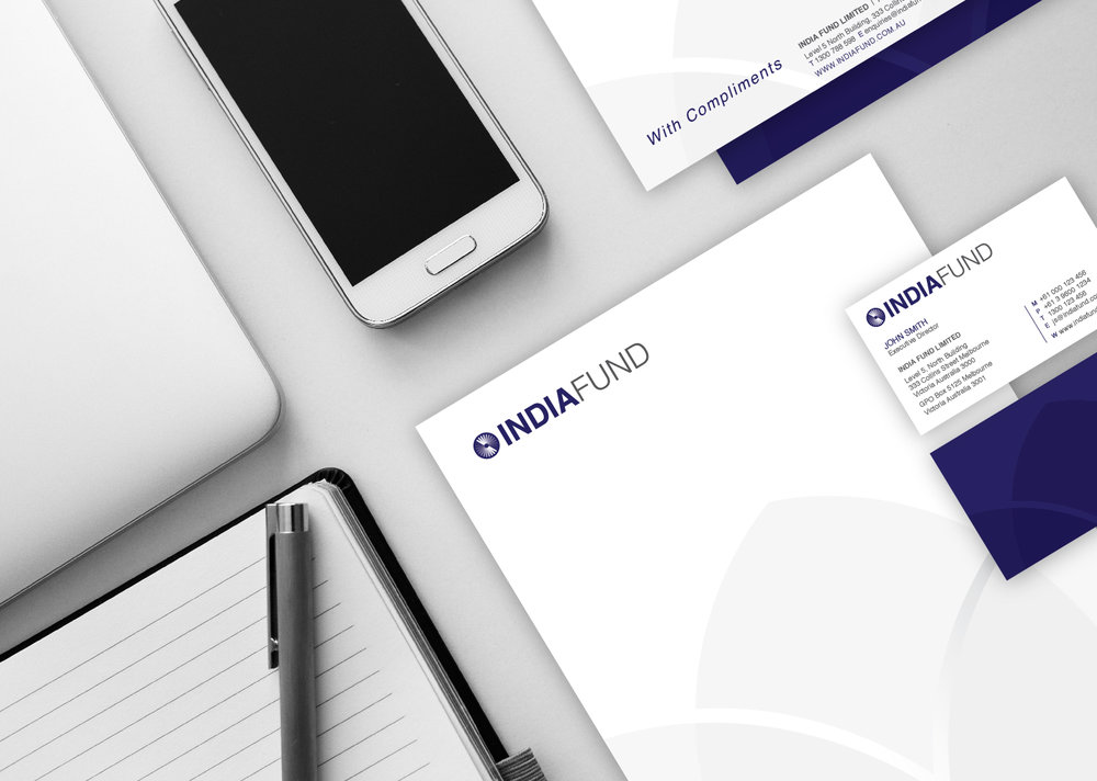 The brand was then incorporated into a variety of stationary designed by Gloss Design.