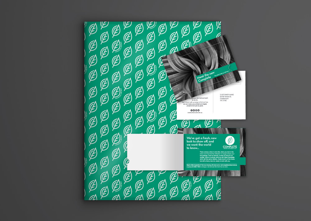 Postcard mail outs were designed to be packaged up and delivered alongside a customers order.