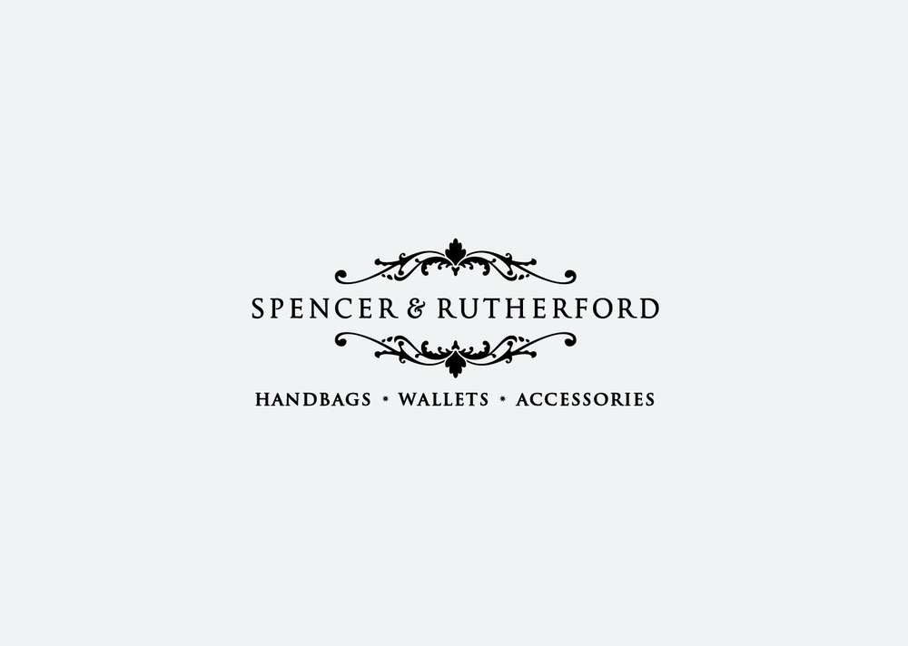 Of the two logo's created for Spencer & Rutherford this was the preferred option, to be used where possible.