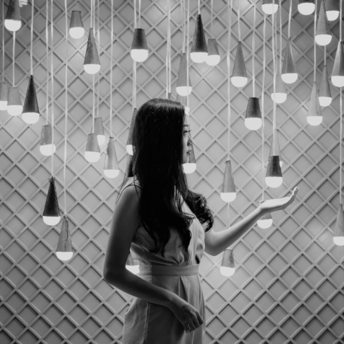 Girl with lamps_BW.png
