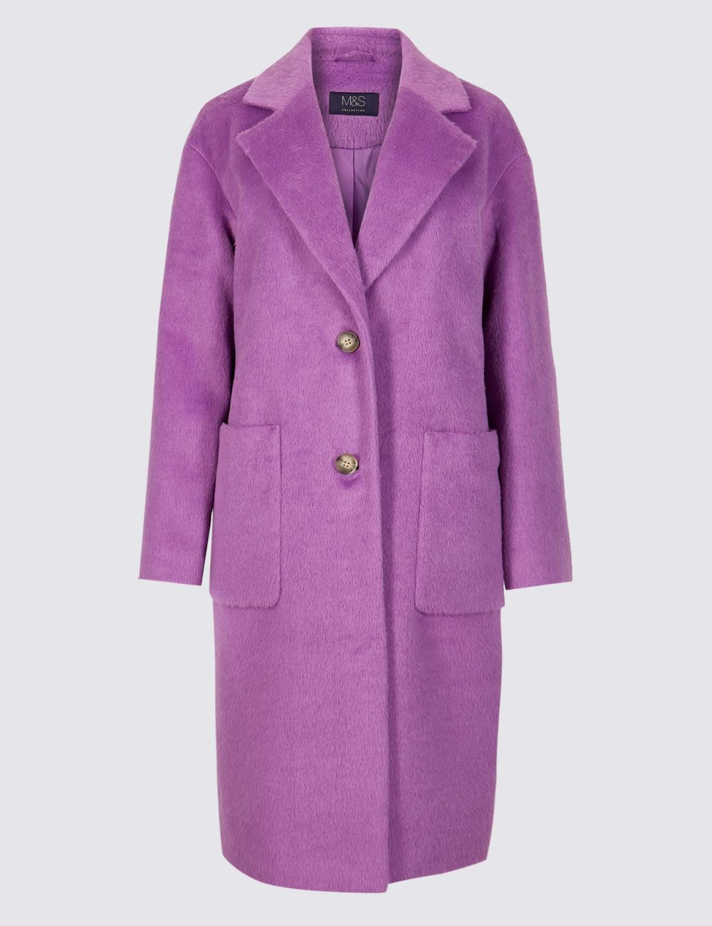 M&S single breasted coat