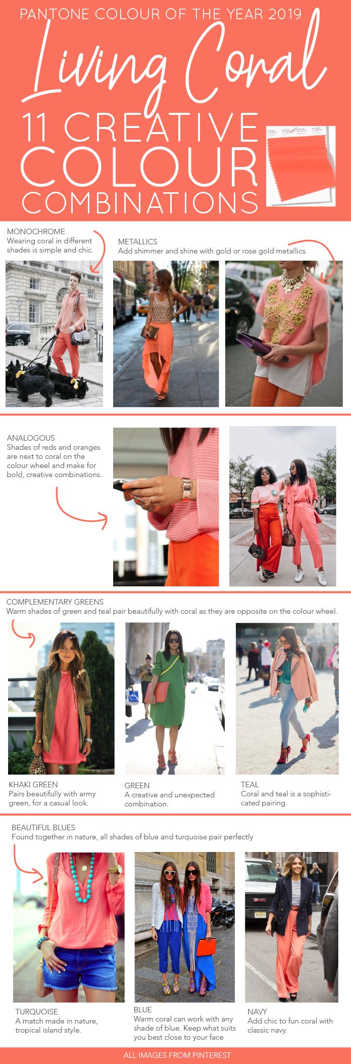 Living Coral Colour Combinations