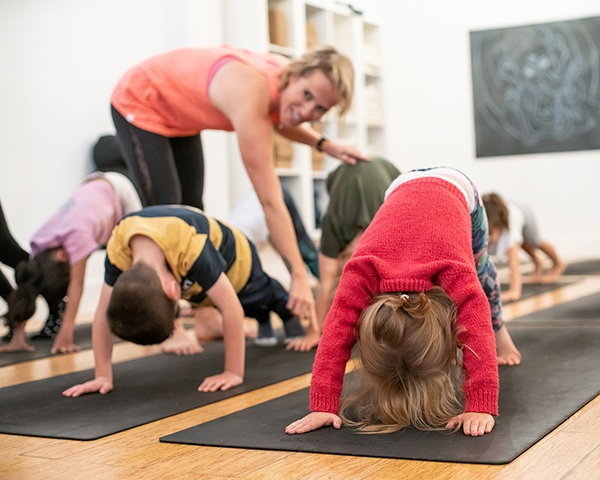 - One other important factor of introducing your children to yoga, and especially in bringing them to workshops and classes with others, is for them to build upon their social skills. It's providing the opportunity to develop relationships with peers in this positive and open environment which invites children to share thoughts, express themselves, and support each other through poses, breathing, and games.