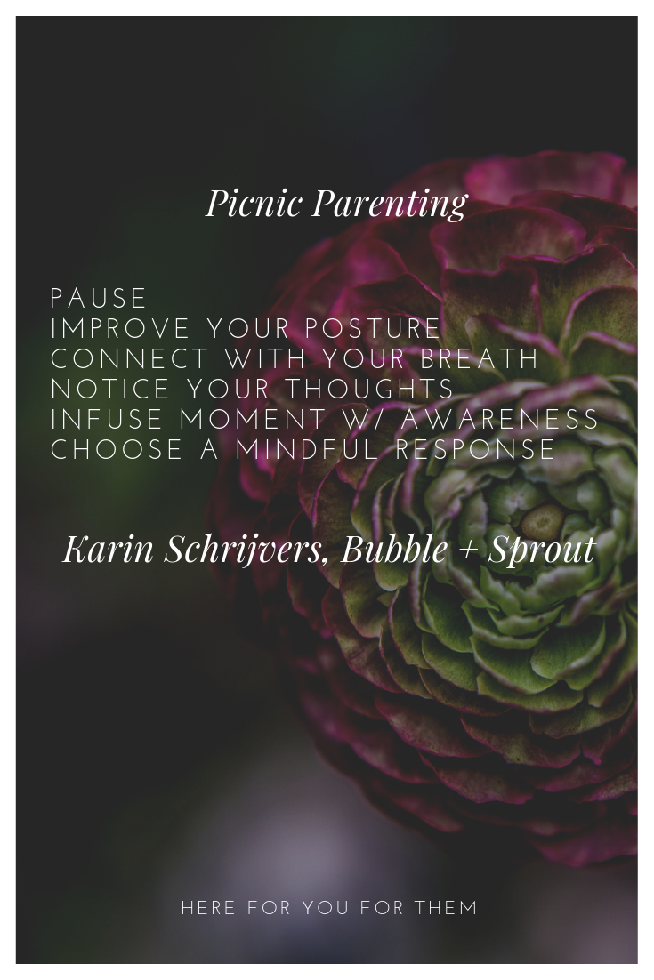 Picnic Parenting: A Mindful Parenting Method by  Karin Schrijvers, Bubble + Sprout