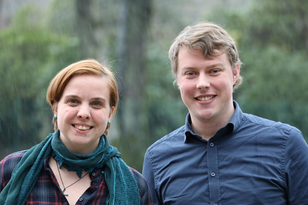 The first authors: Jerneja and Daniel, Photo Credit: Sars Centre