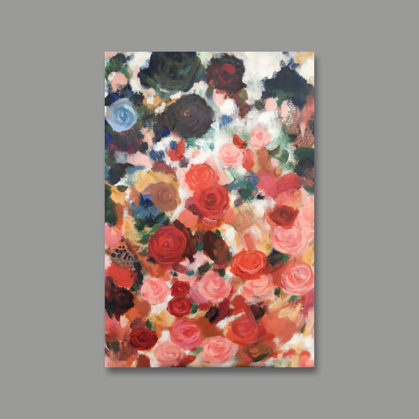 Rose Garden Abstract Oil Painting Ildiko Kmeth.png