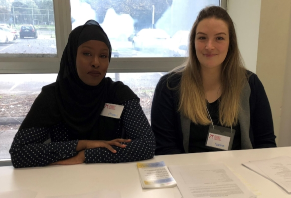 Hodan(law student volunteer) & Nadine (family lawyer) at Community Legal Education.jpg