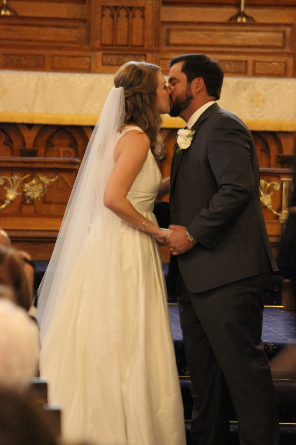 Their first married kiss…
