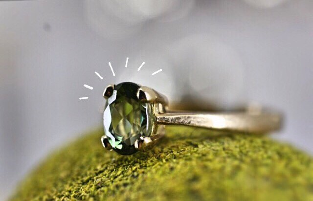 We also specialise in 9ct gold jewellery; here is one of our rings in green tourmaline ✨