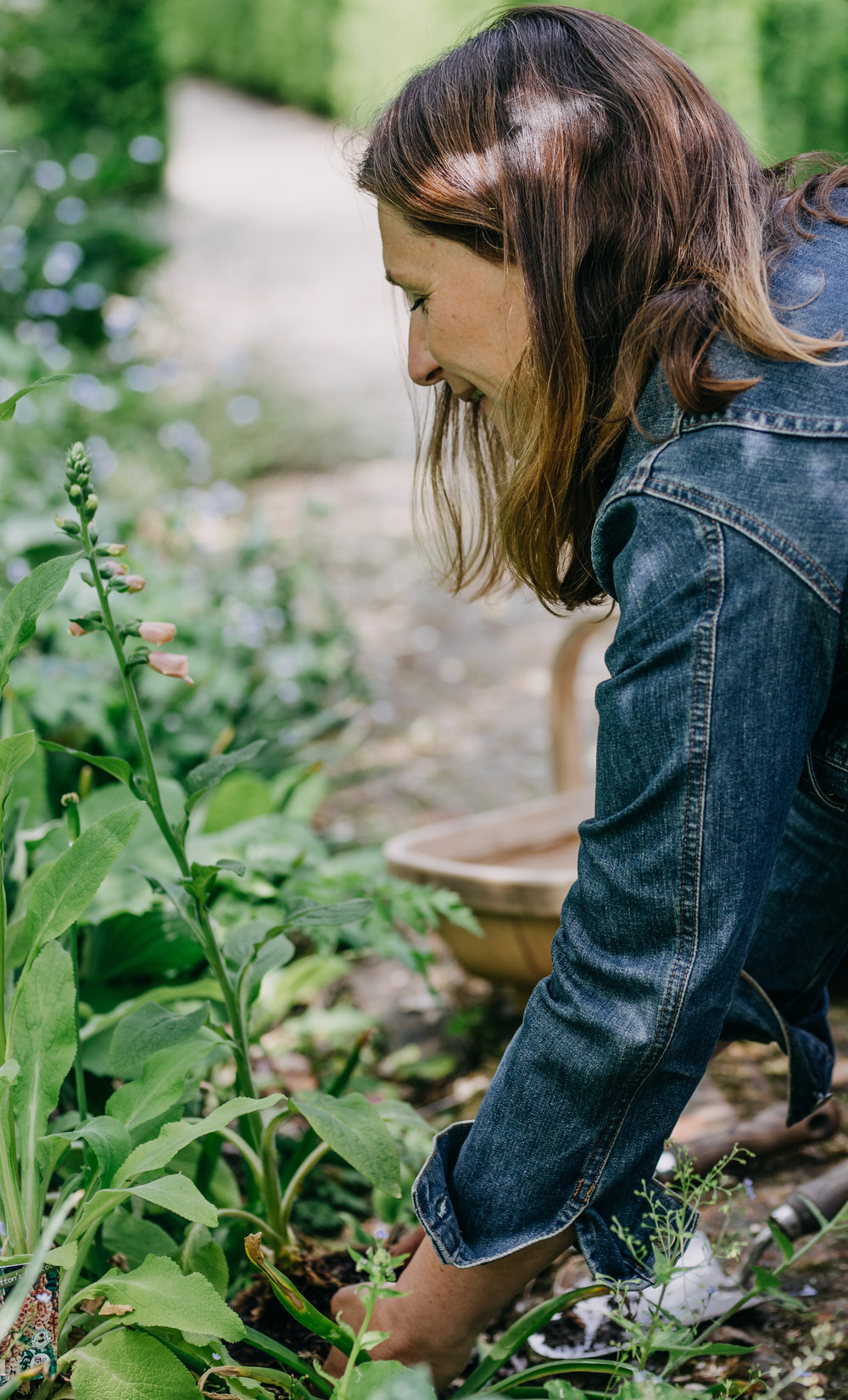 Sarah Layton uses horticultural therapy & garden for well being