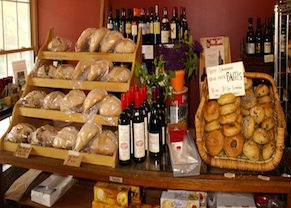 new Gloucester Village Store - Located in the heart of the historic New Gloucester Lower Village, just down the hill. A market, bakery, and eatery offering wood-fired brick oven pizza, homemade breads, 600 finely selected wines and beers, grocery items, and ample, comfortable seating in a warm and inviting atmosphere.