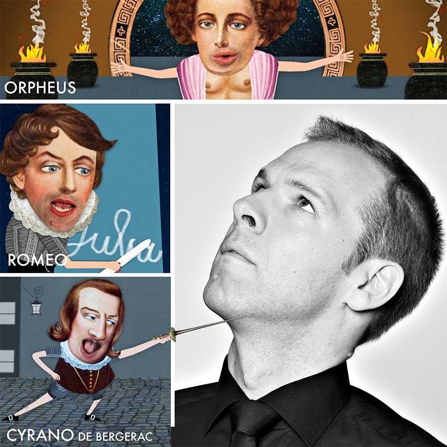 Helge Thun  Komischer DIchter, Comedian - Orpheus bei ORPHEUS & EURYDiKE, Romeo bei ROMEO & JULiA, Cyrano bei CYRANO DE BERGERAC •  helgethun.de