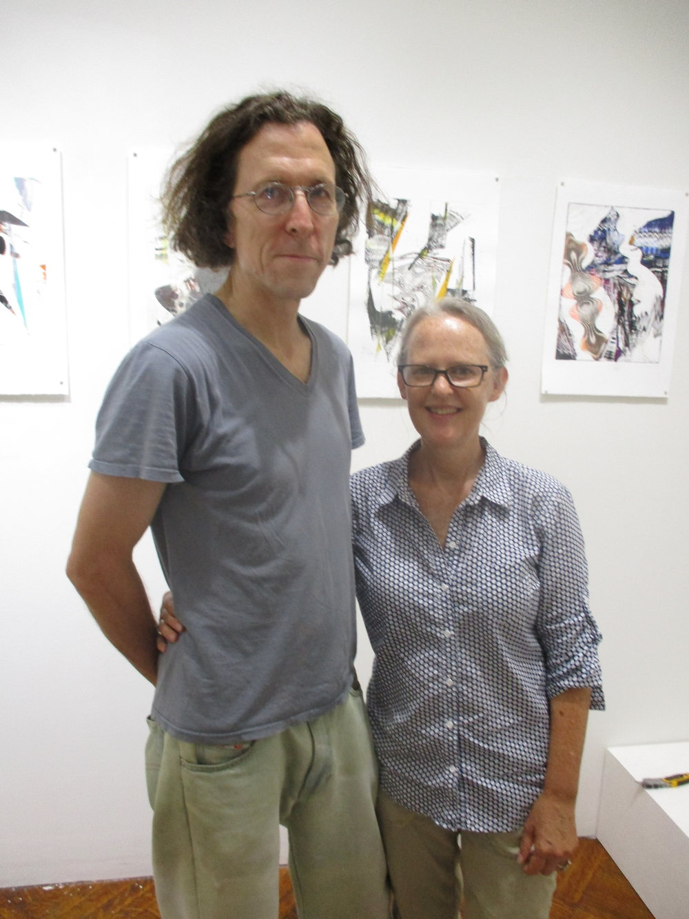 Don Doe and Cecilia Whittaker-Doe owners of SRO gallery on 1144 Dean Street and both artists in their own right.