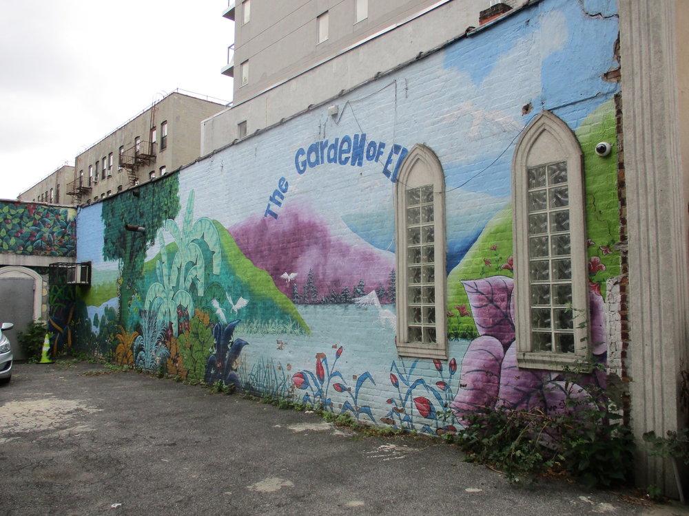 Church wall on Classon Avenue