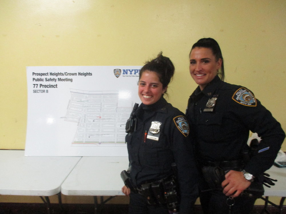 Police officers Michelle Giglio and Alicia Frisch