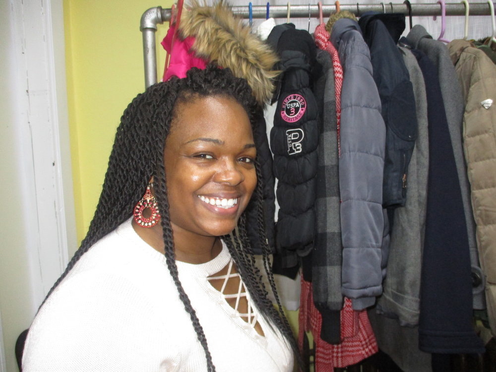 Donella Bracey at the Bethany Methodist coat giveaway