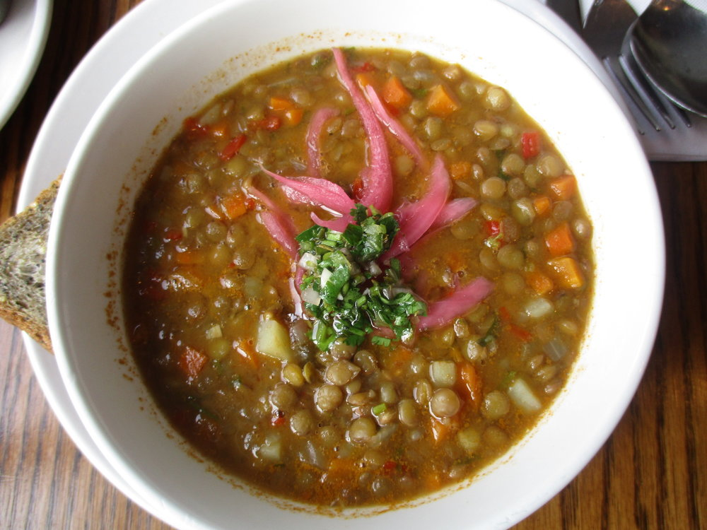Lentil soup at Colina Cuervo