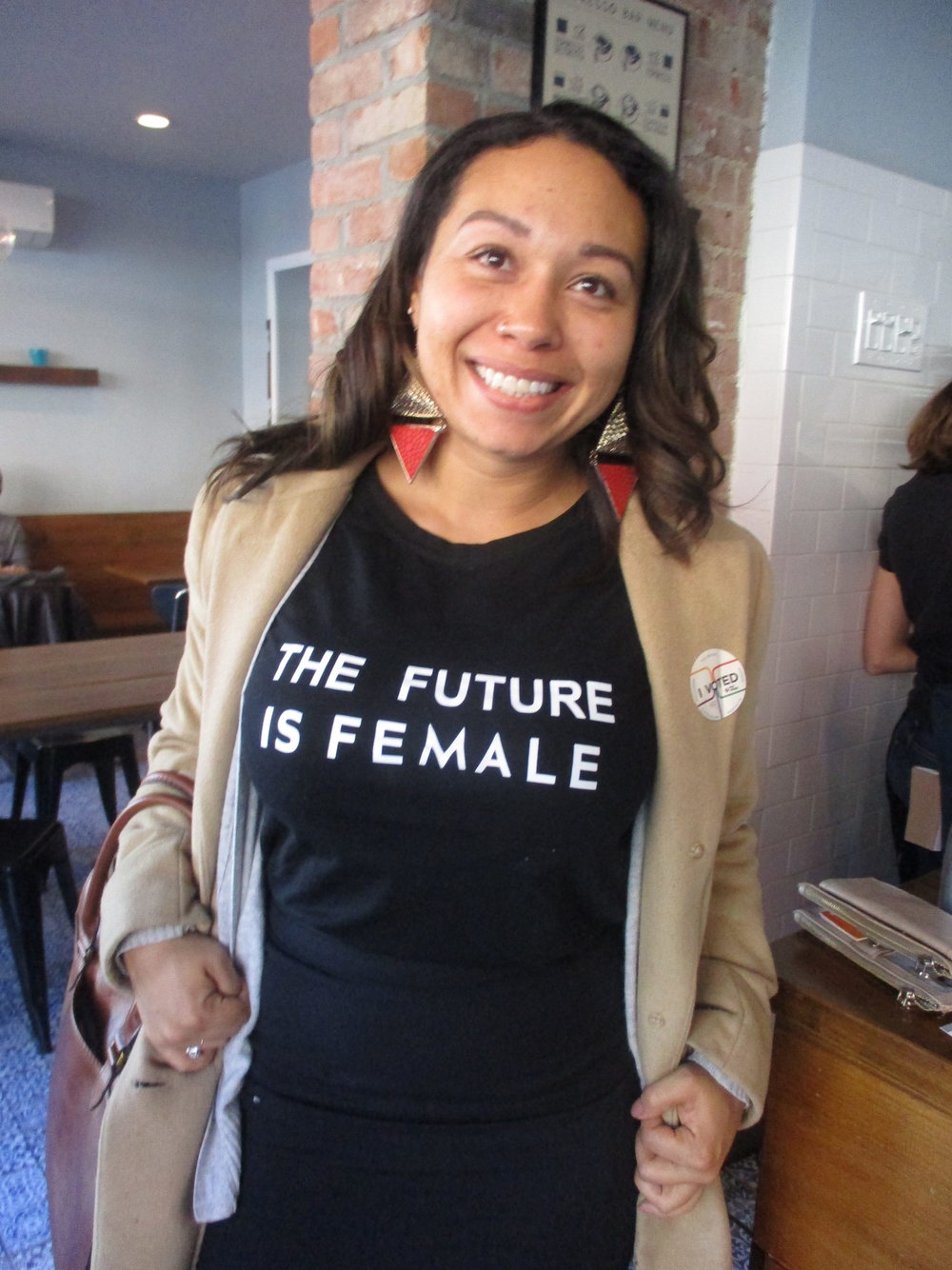 The future is female and she voted to make it happen; she is the future.