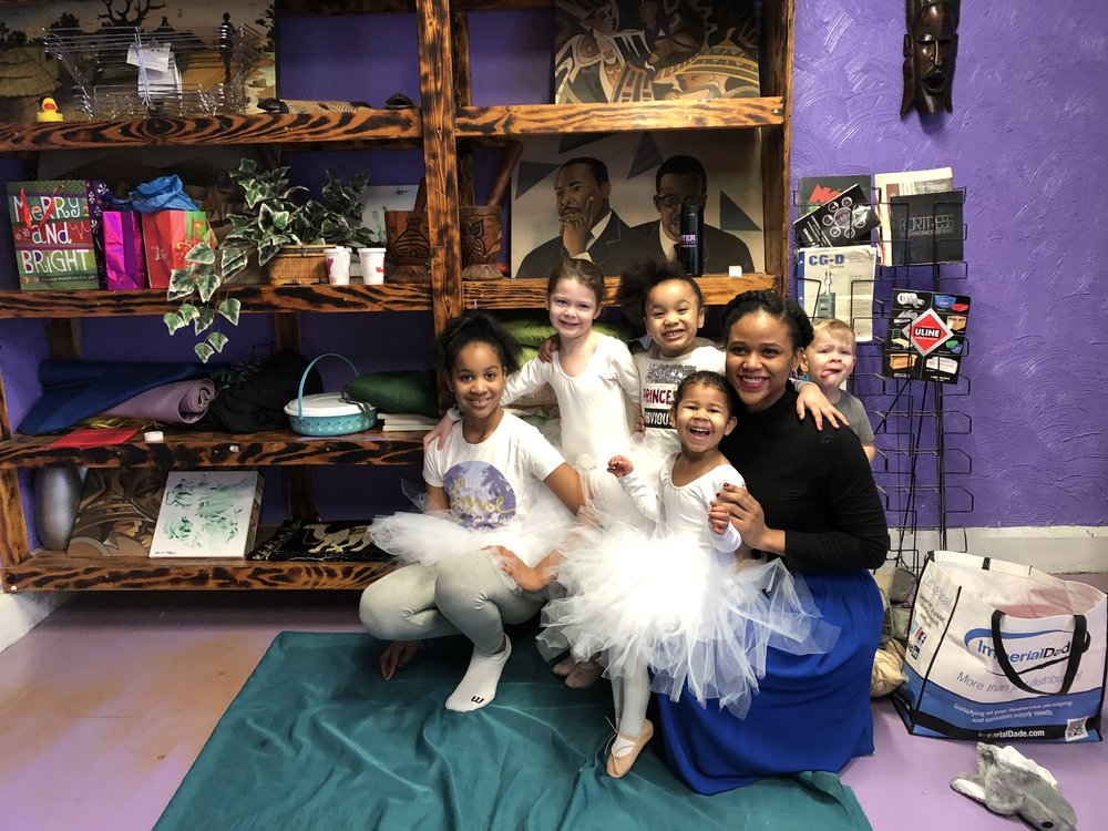 Children who performed a dance