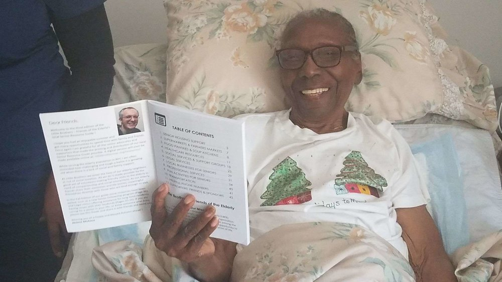 Helen, one hundred years old with the Resource Guide