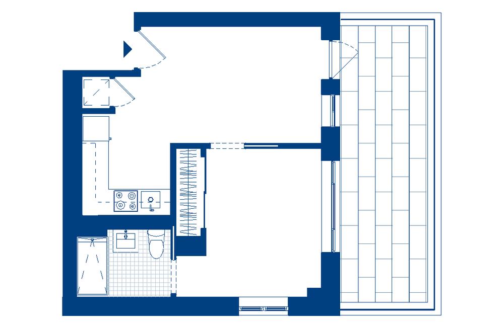1 Bedroom Terrace