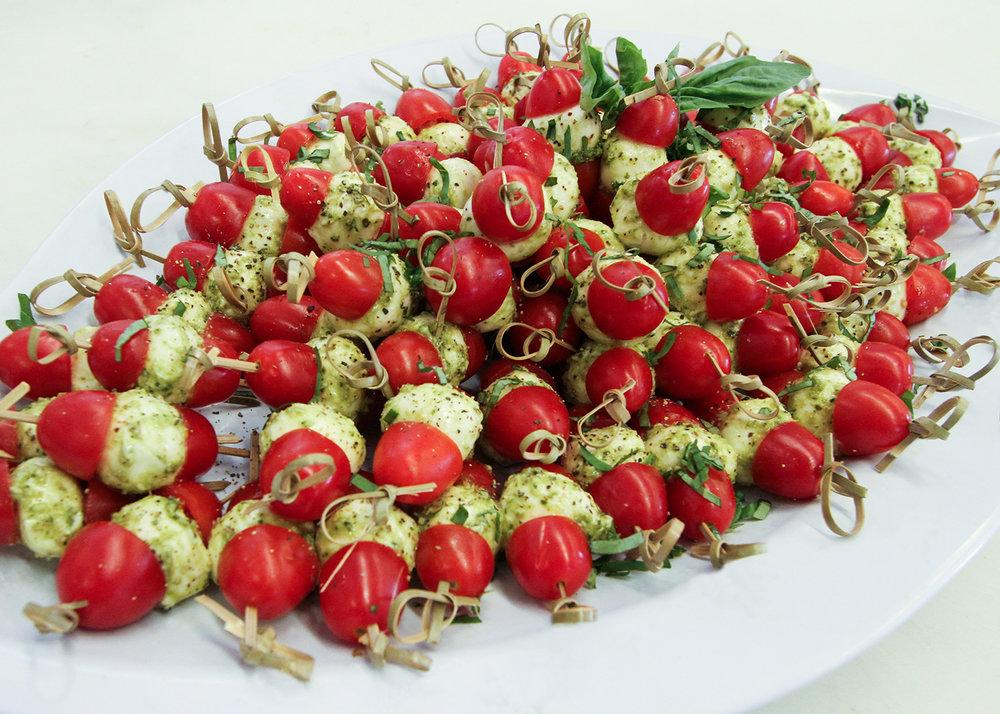 Tomato Basil Caprese Skewers