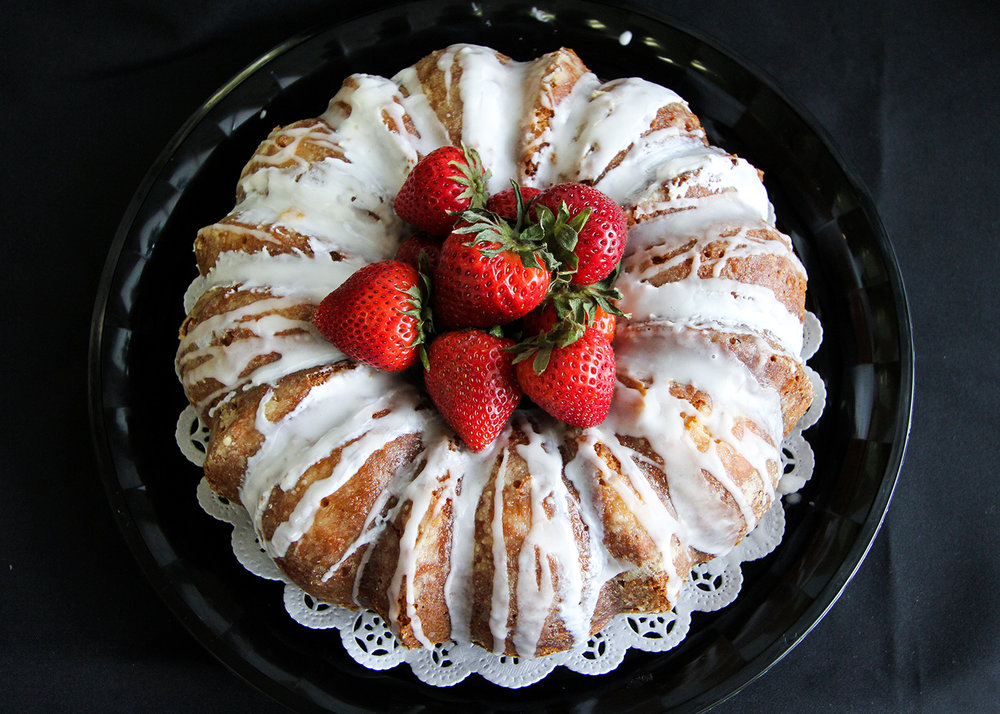 Lemon Walnut Bundt Cake