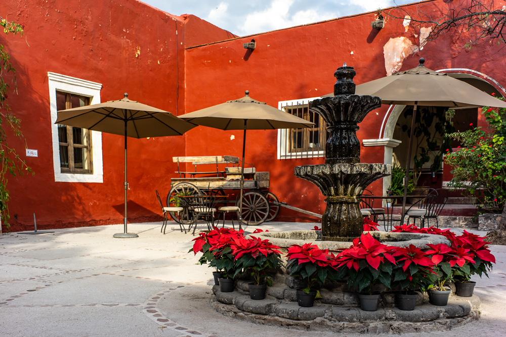 The Courtyard Restaurant, Hacienda Tovares, Queretaro, Mexico