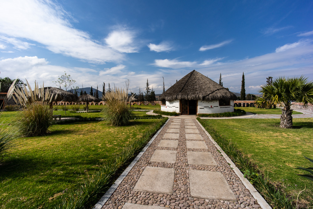 A path leading to the shop at Rancho La Hondonada, Queretaro, Mexico