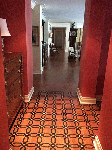 Faux parquetry entry