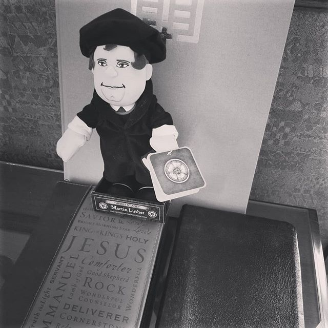 Martin Luther says you should join Pastor CJ tonight at 6 at BJs Restaurant and Brew house for Bible reading and tasty food and drinks!