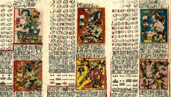 The Dresden Codex a book that highlights the major discoveries the Mayans made in Astronomy .Image courtesy of teleSUR/ British Library.
