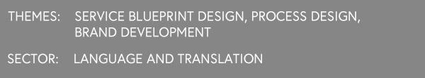 LabPlay Studio Case Study: Premier Linguistic Services, Service Blueprint Design, Brand Strategy, Brand Development and Process Design