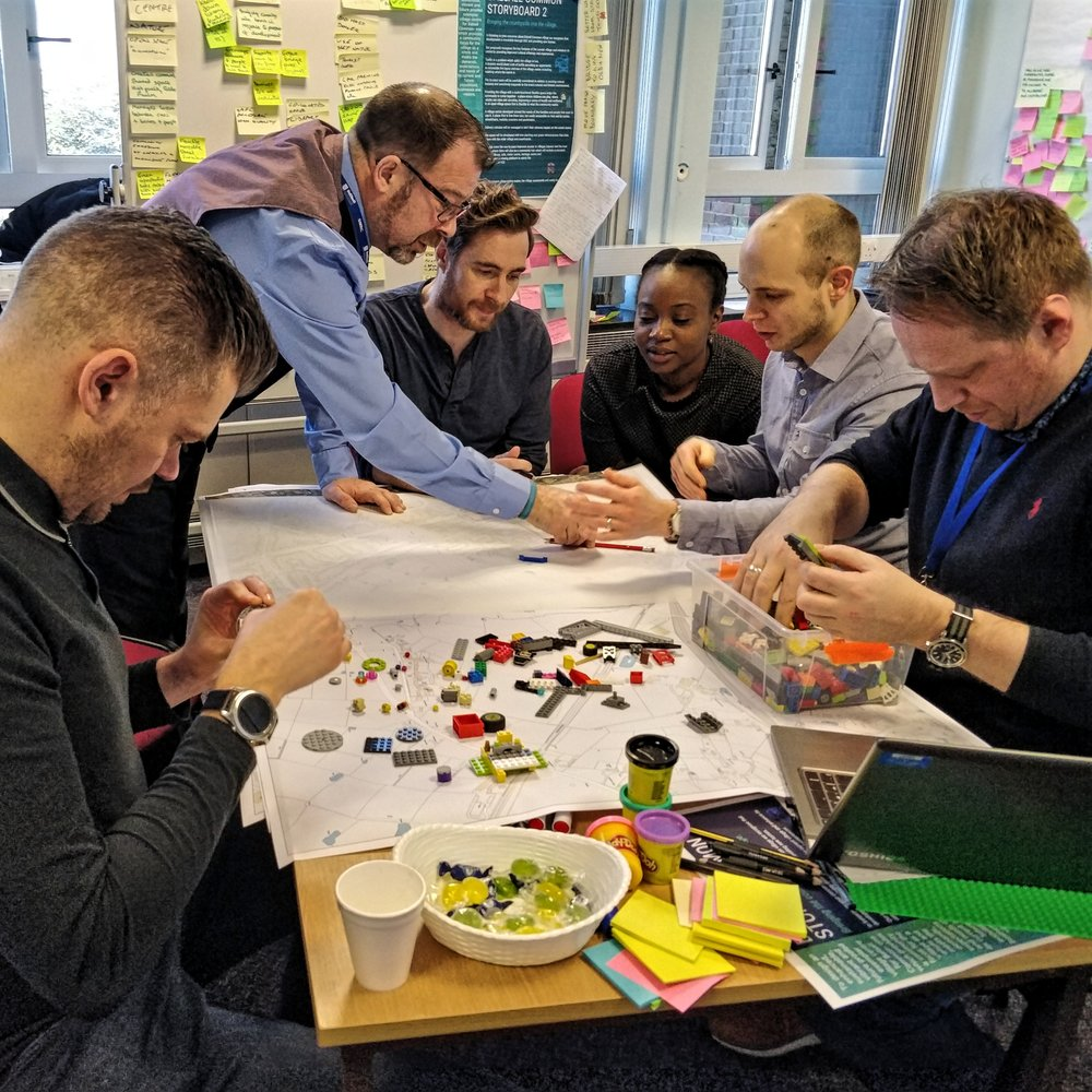 Prototyping at a Design Thinking Service Design Sprint with LabPlay Studio