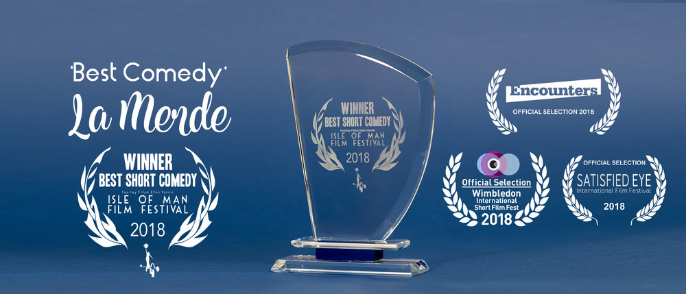 We are delighted to have screened at our first festival and holy La Merde we only gone and won 'Best Comedy'….