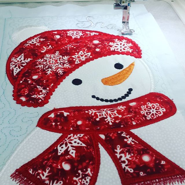 #embroidery #janome #snowman