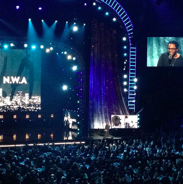 Kendrick Lamar inducting NWA into Rock Hall of Fame @ Barclay's Center