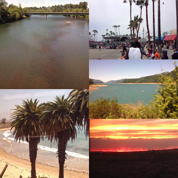 Southwest Chief train views + Los Angeles, Venice Beach