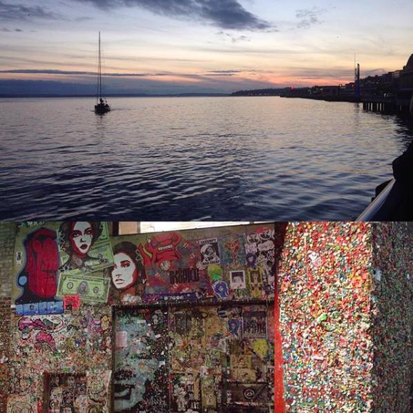 Puget Sound + Seattle's gum wall