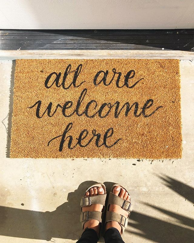 Went to Michelle's house today to record and there was this. ♥️ #allarewelcomehere #itstrueheretoo #inclusivepodcasts