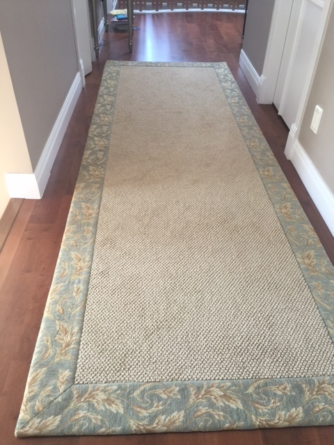 Tapestry runner green.JPG