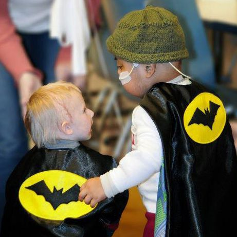 Nominate - Do you know a child in need of a smile? Bring a cape to your hero by nominating them as a superhero.