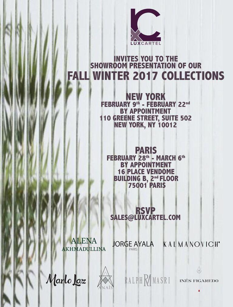 Fashion Week Fall Winter '17 Invitation.jpg