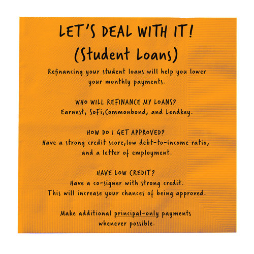 Lets S Deal With It Student Loans Brett S Napkin